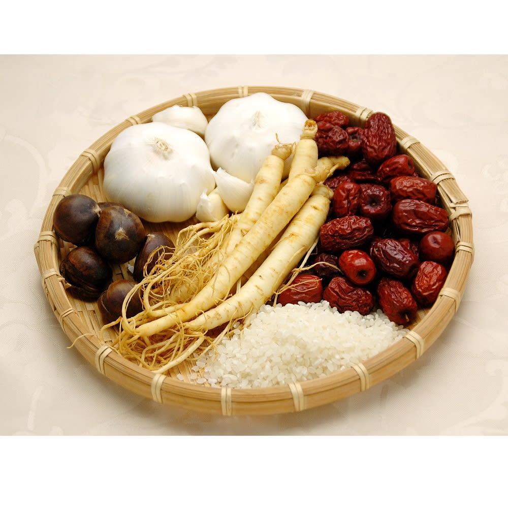 参鶏湯(サムゲタン) (1kg×1袋) 【お試し用】 参鶏湯の材料(※イメージ)