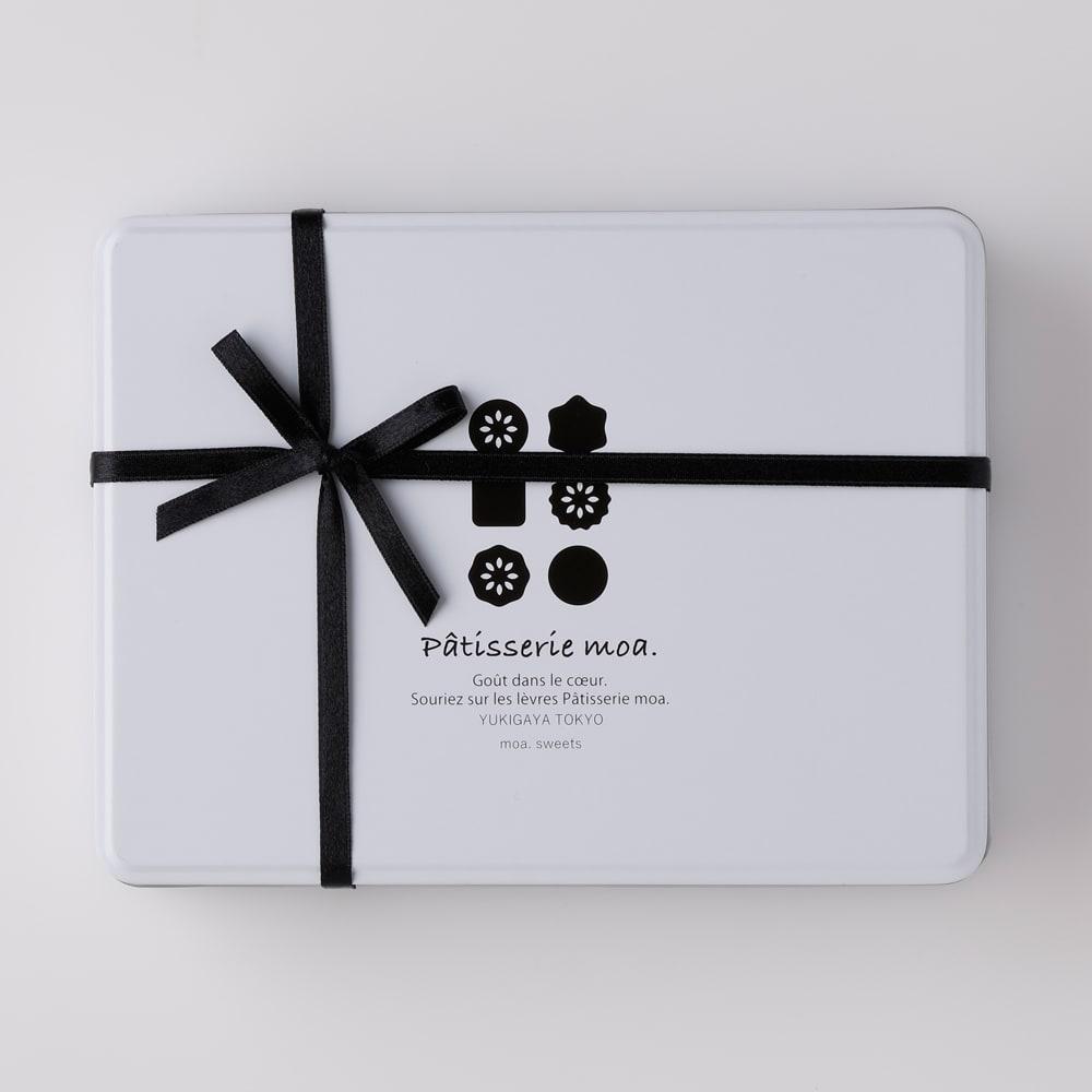 【ディノス限定】 「Patisserie moa(パティスリーモア)」 オリジナルクッキー缶 オリジナルのクッキー缶に入れてお届けします