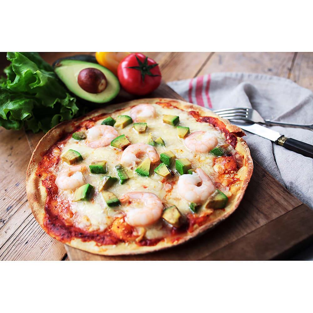 低糖専門キッチン「源喜」 具だくさん低糖質ピザ3種セット 【エビ&アボカド】※盛り付け例