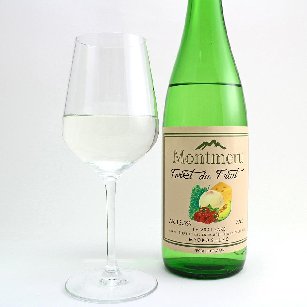 【日本酒】モンメル・フォレ・ドゥ・フリ(純米吟醸) (720ml) お米本来の甘さを十分に引き出した、甘酸っぱく、フルーティーな新感覚の日本酒です。