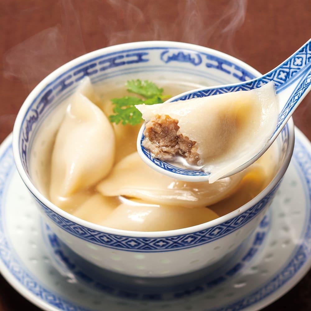 陳建一 水餃子 (5個×8袋) 【調理例】プルっとした食感にモチッとした皮、ジューシーな餡が口の中いっぱいに広がります。