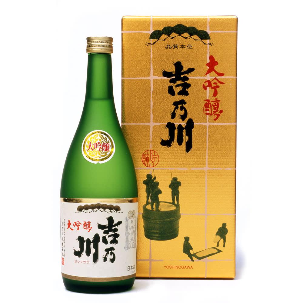 大吟醸 吉乃川 (720ml) 銘水「天下甘露泉」を仕込水に、磨き抜いた酒造好適米を低温発酵させて醸し出した本格派。