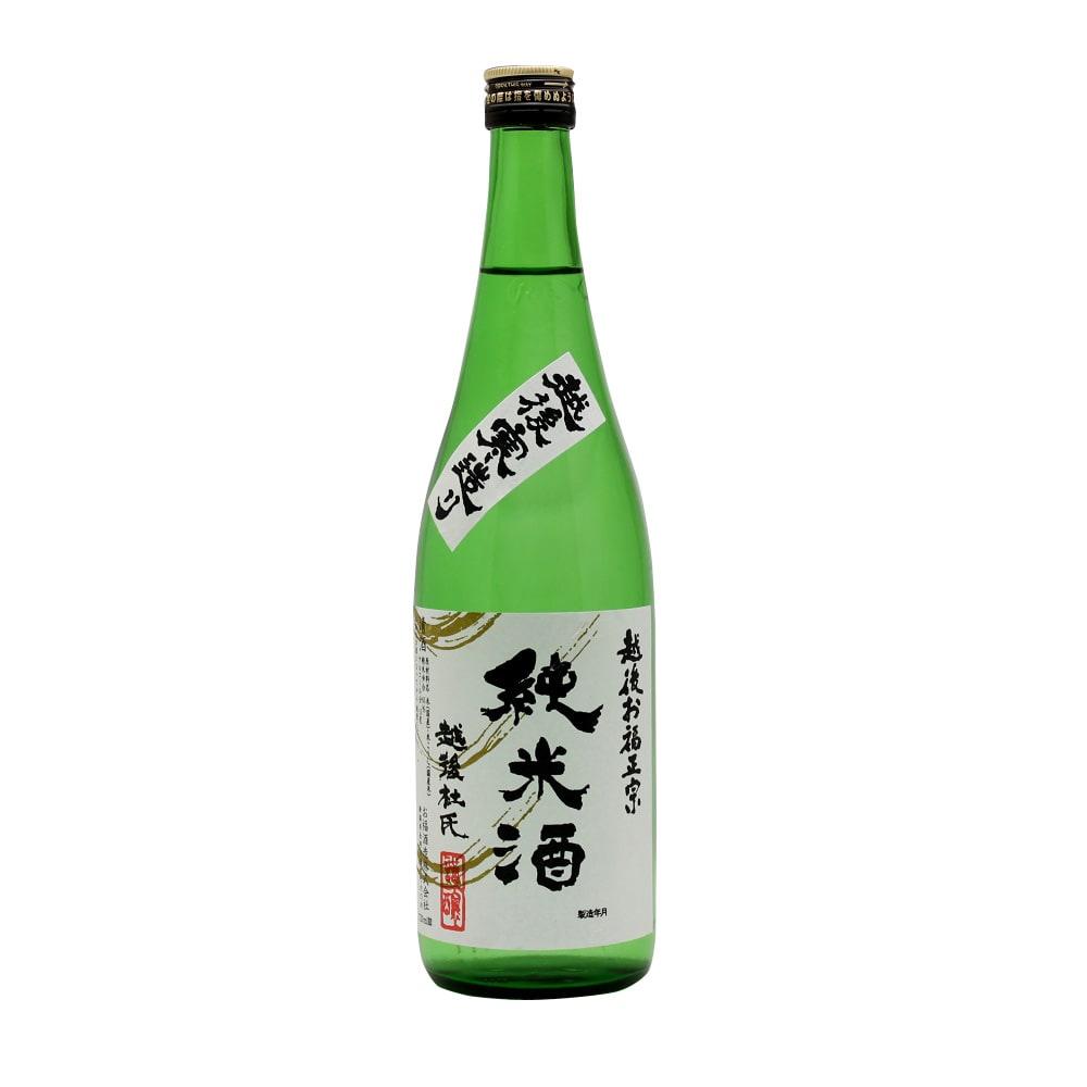 お福正宗 純米酒 (720ml) 新潟県産こしいぶき米を100%使用し、越後長岡東山山系の自然清水で造りました。