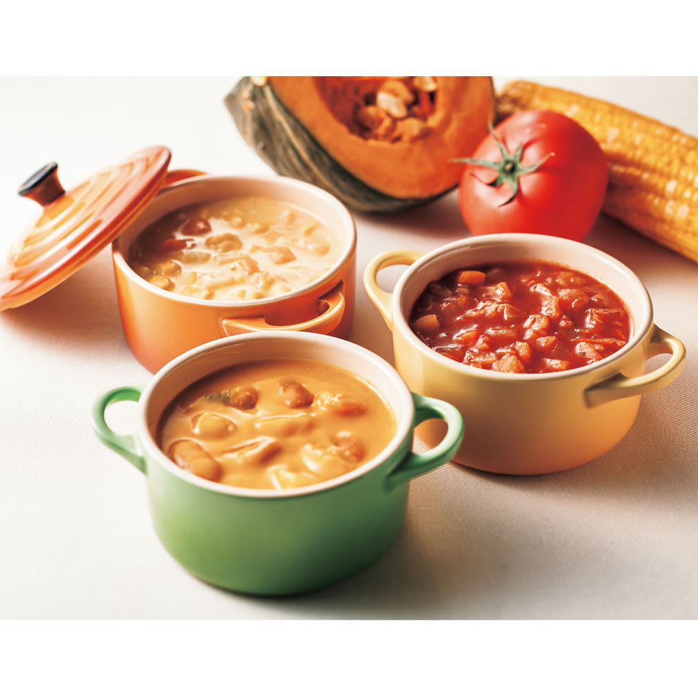 フォレシピ もぐもぐお野菜スープセット (160g×8袋) 【盛り付け例】