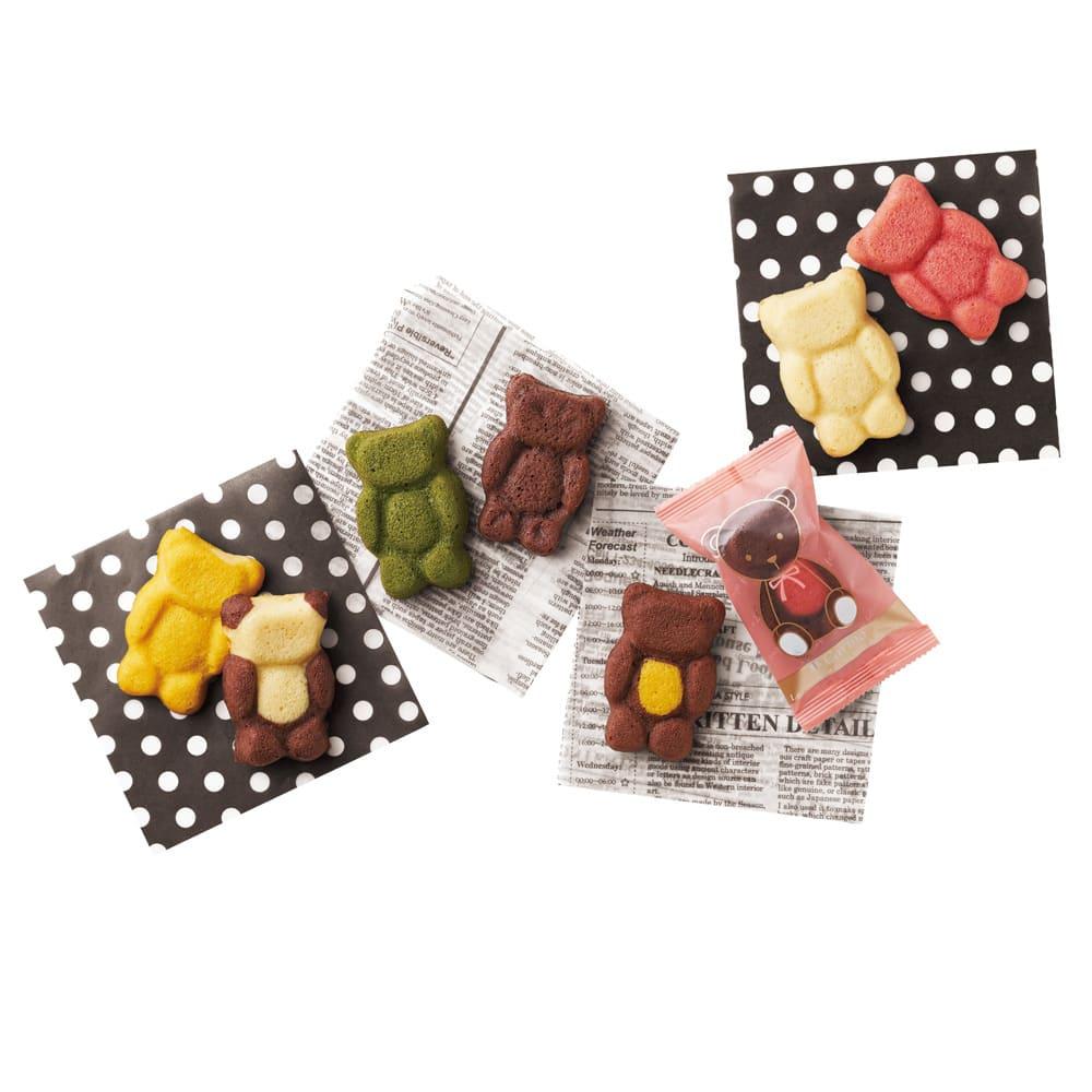 【シール】ドルチェ・ディ・ロッカ カリーノ くまの焼き菓子 60個入り 洋スイーツ
