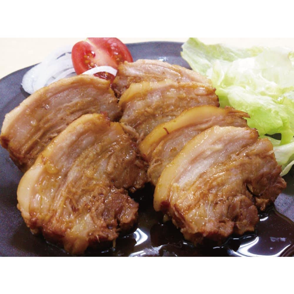 「焼き豚P」 豚バラ肉のチャーシュー(300g×2袋) お惣菜加工品