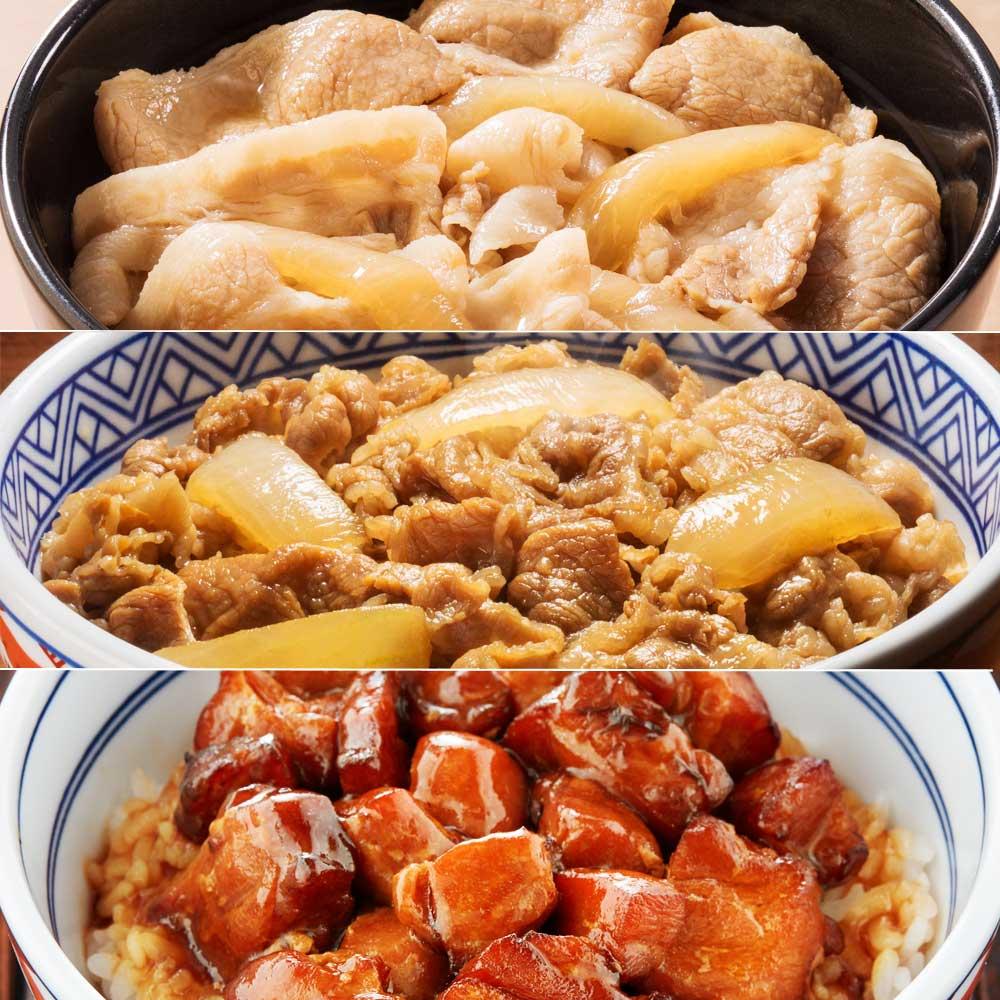 【母の日ギフト】吉野家人気丼3種セット (計10袋) 【盛り付け例】