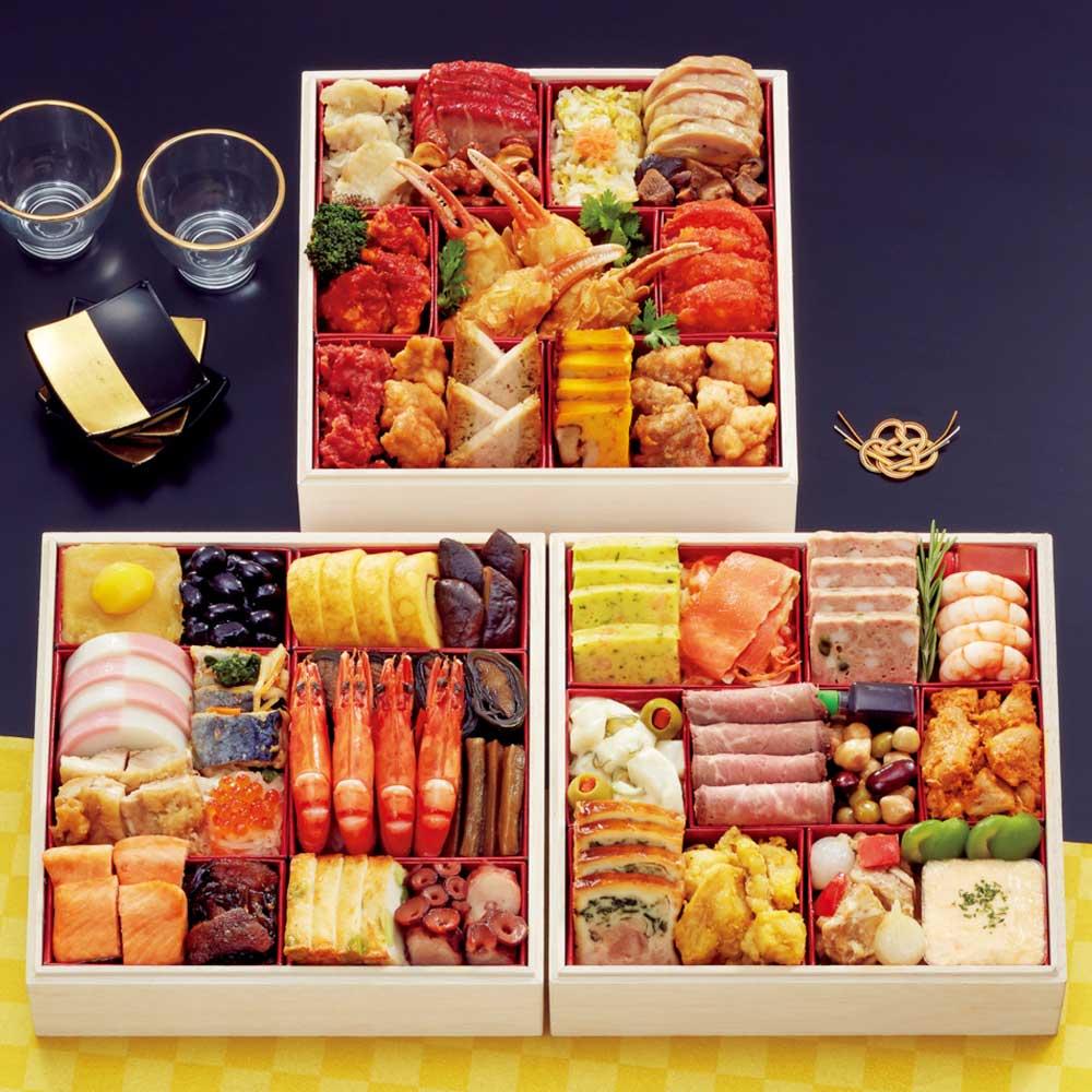 札幌グランドホテル 「彩の宴」 和洋中三段重(約4~5人前) 全44品 N93411