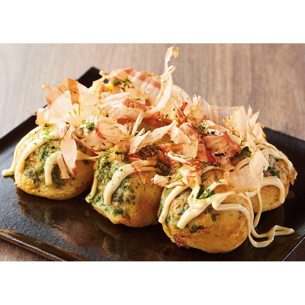 大阪梅田「蛸之徹」監修 冷凍しそたこ焼き (80個) お米・パン・麺類