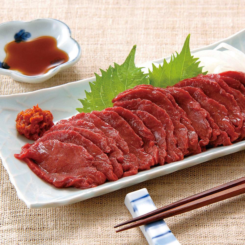 【お中元】会津の国産馬刺しセット (150g×3パック) (7月中旬お届け)  肉