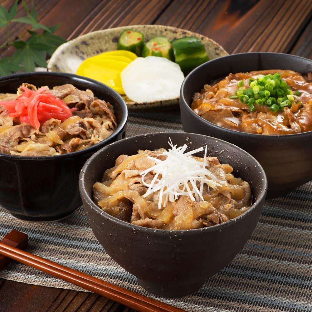 【お歳暮ギフト】黒豚丼・和牛ミニ丼の具 (3種 計12パック) 肉加工品