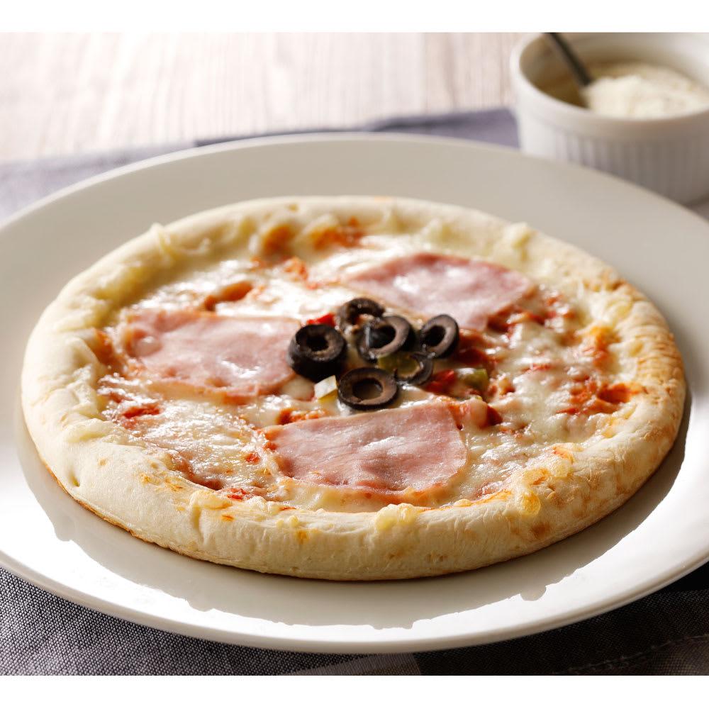 【業務用食材・食品】業務用ピザ (4種×2枚 計8枚) ナポリ風生ハムピザ