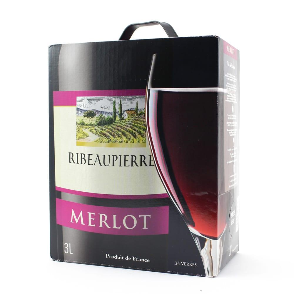 【ワイン】リボ・ピエール メルロー 3Lボックス ※パッケージデザインが変更になることがあります。