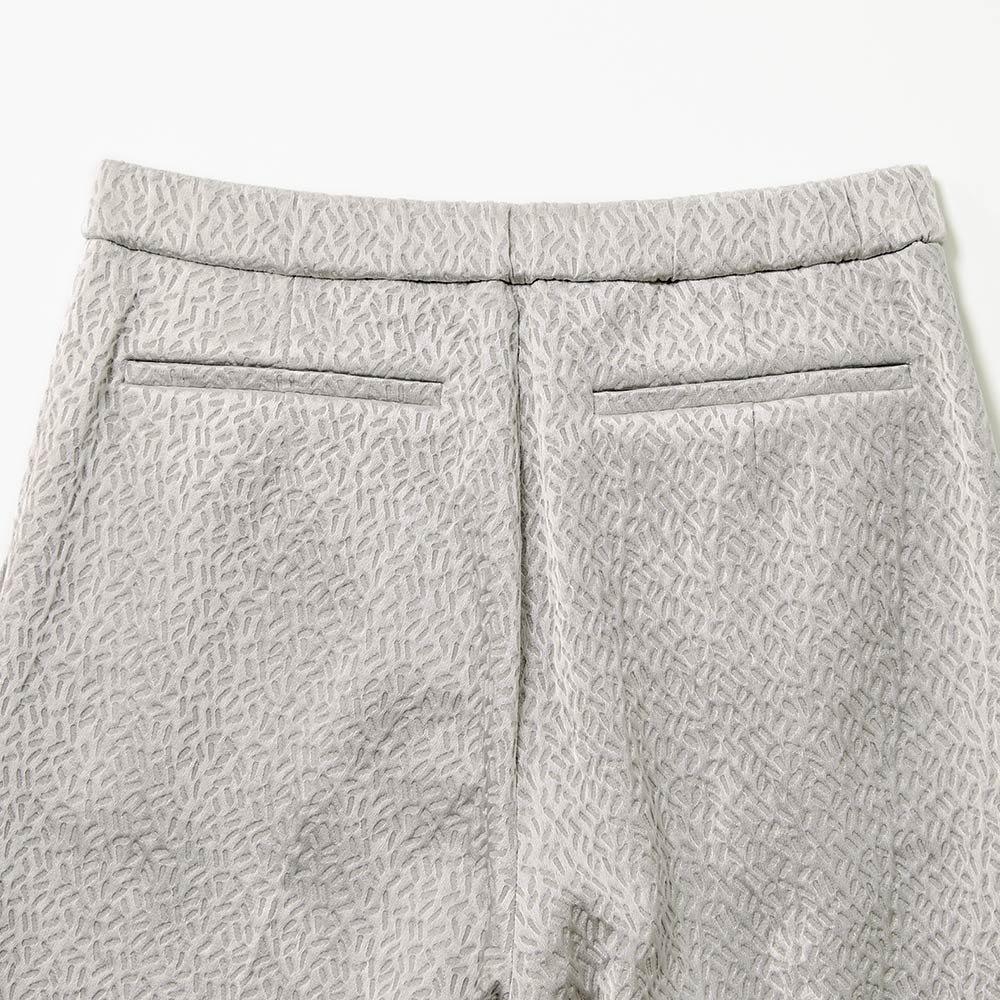 (股下丈68cm)フランス素材 ジャカード 九分丈パンツ BACK
