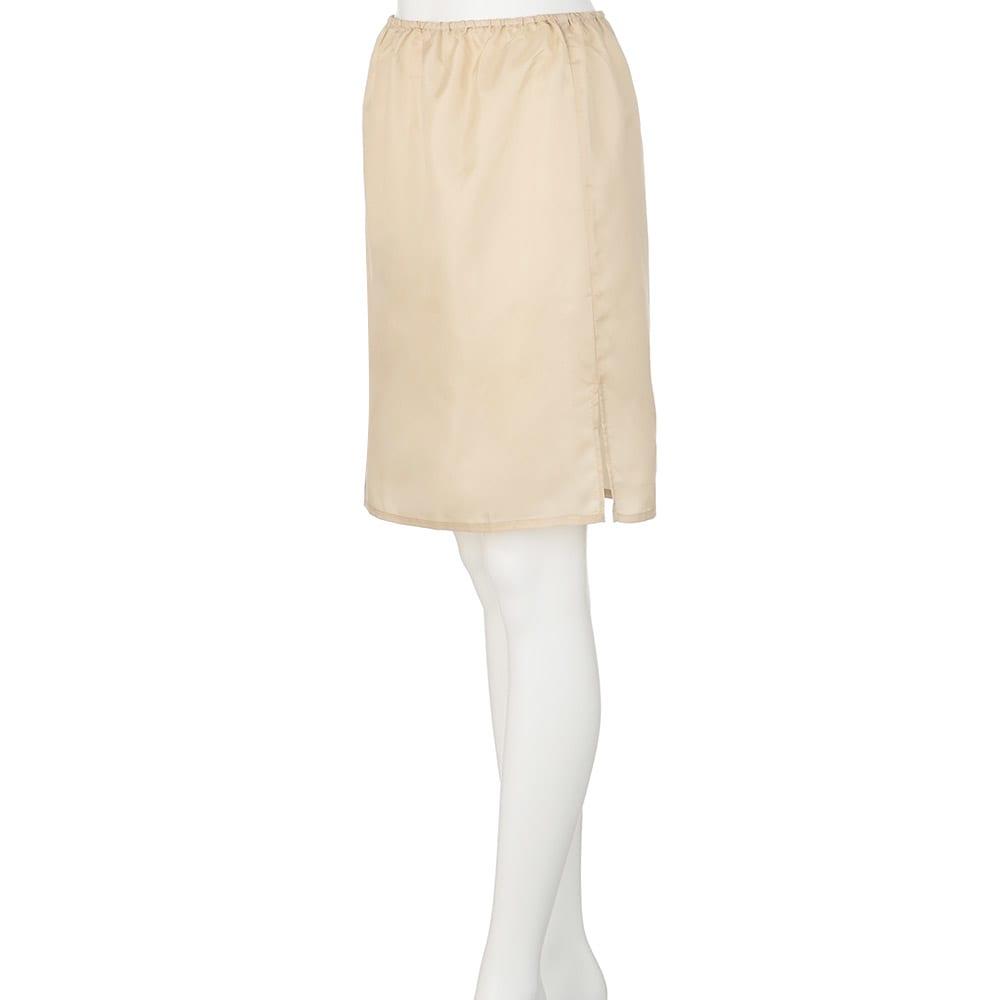 ロンドンデザイン フラワープリントワンピース アンダースカート付き