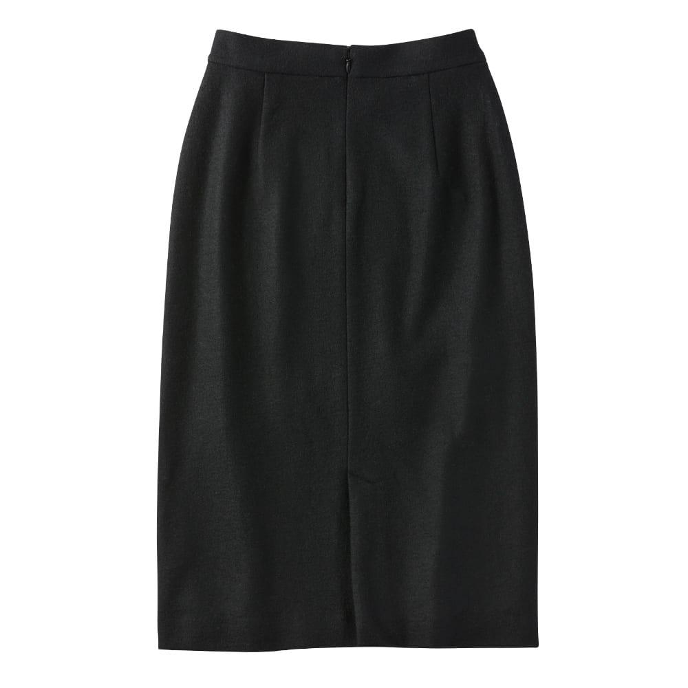 フェザーテープ付き ウールジャージースカート Back Style