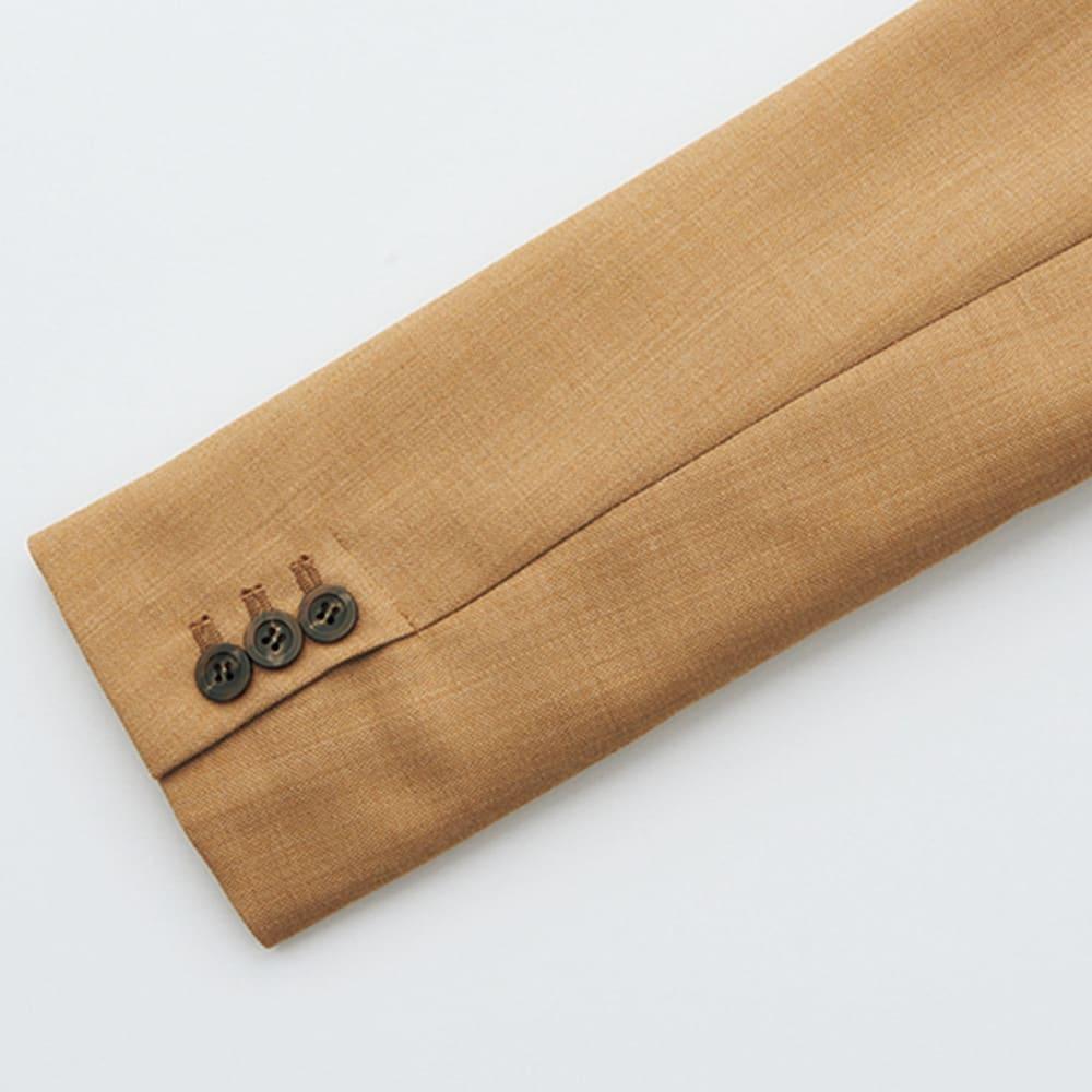 イタリア素材 ウール ダブルジャケット 袖口
