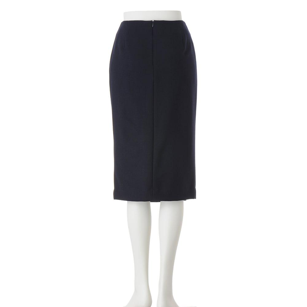 ウール混 ダブルクロス ダブルベント スカート