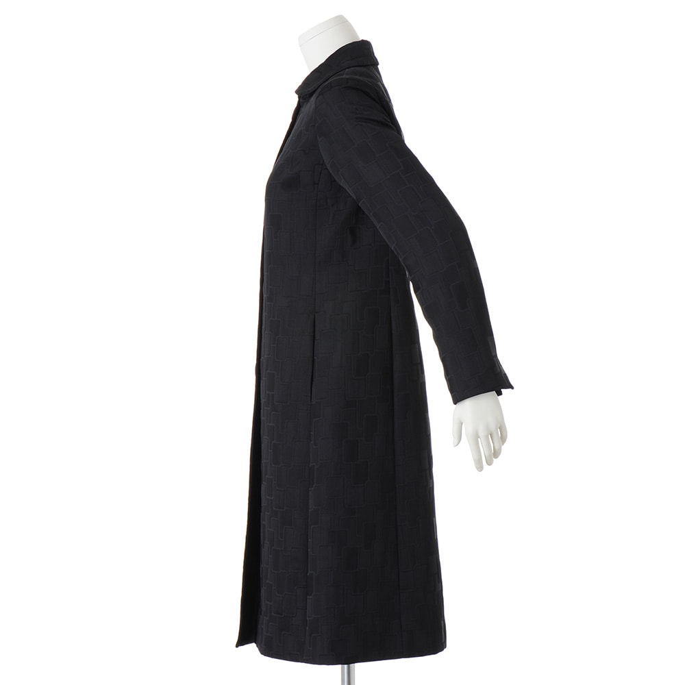 マトラッセジャカード ステンカラー コート