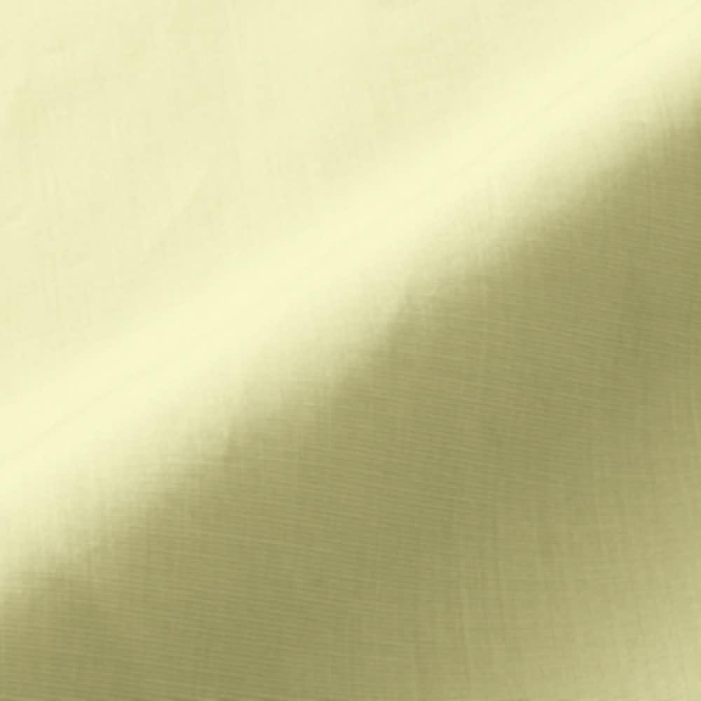 ソメロス社 ピンタック使い スキッパー シャツチュニック (ウ)ライムイエロー 生地アップ
