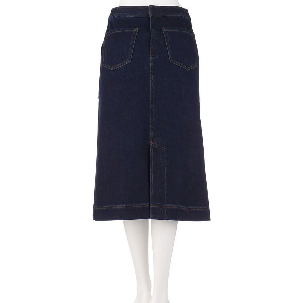 デニムダウンファブリック セミタイトスカート