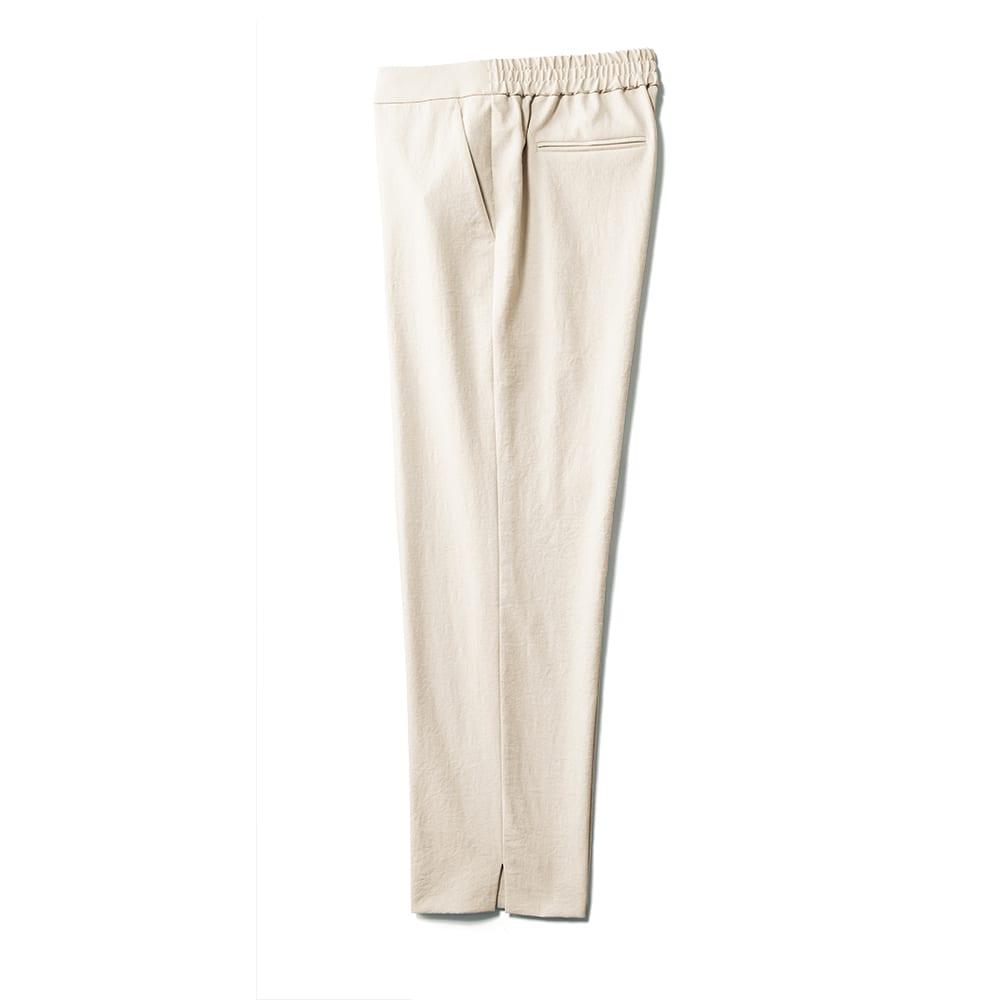 (股下丈60cm) ボディシェルドライ(R)混 サイドスリット パンツ SIDE