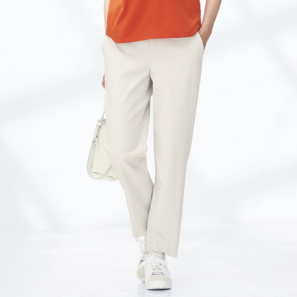 (股下丈60cm) ボディシェルドライ(R)混 サイドスリット パンツ 着用例