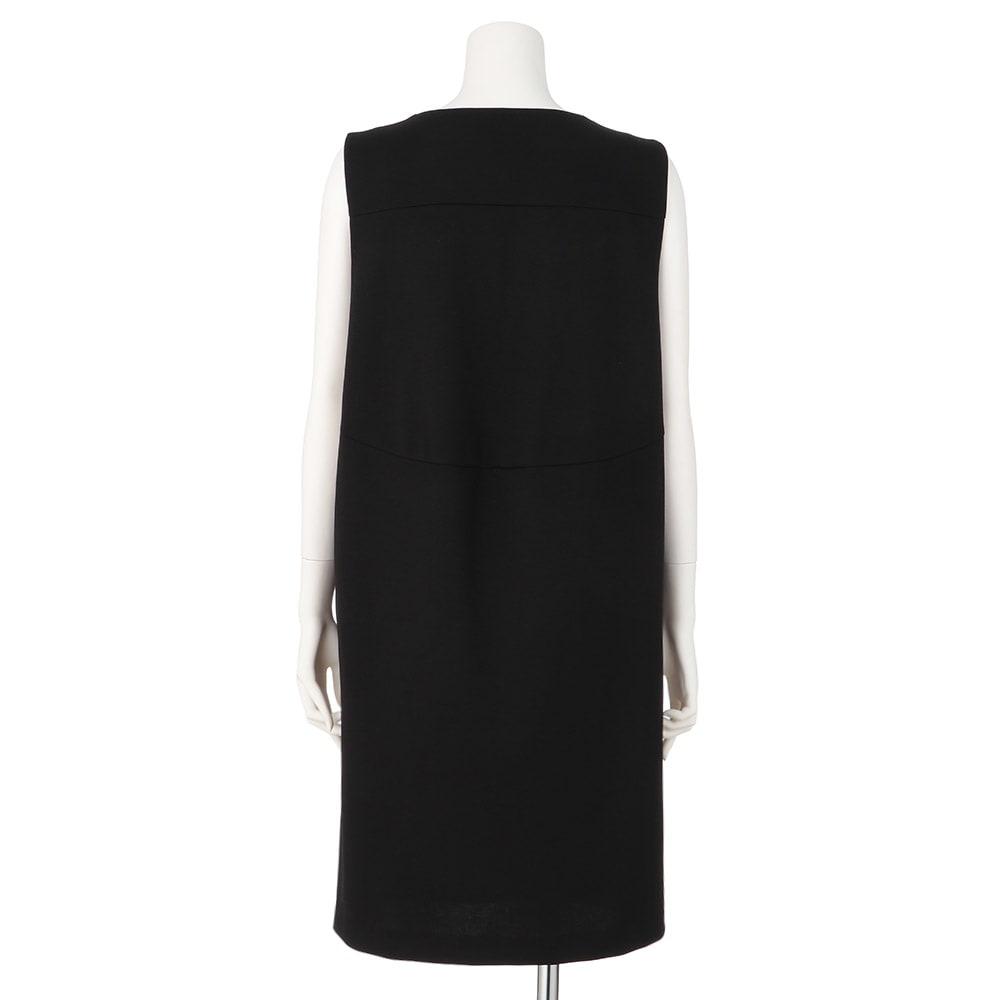 (L-LL) ジャージー Vネックジャンパースカート(大きいサイズ)