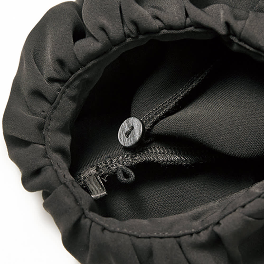 袖コンシャス 2WAY チュニック 袖裏側ループ&ボタン