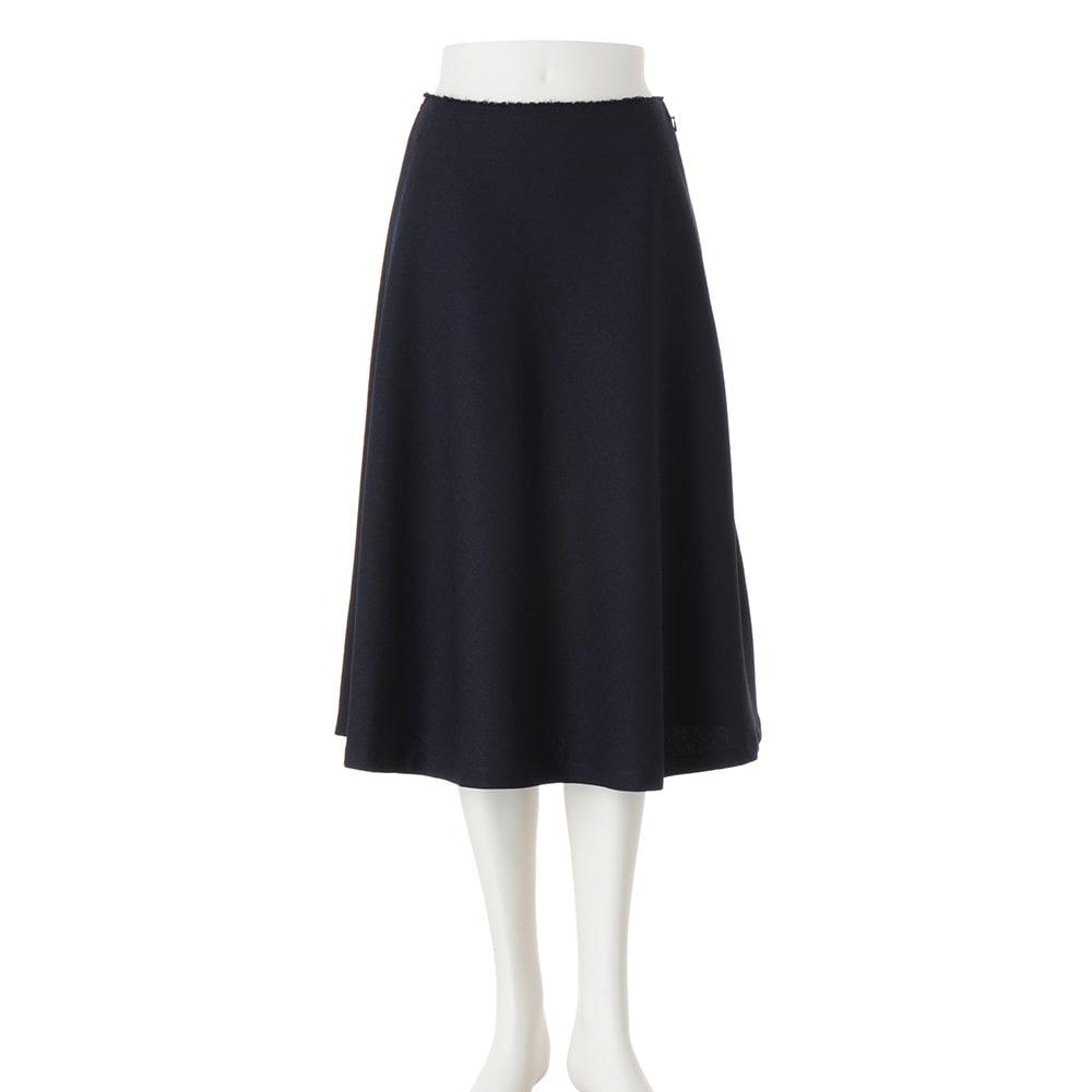 ツイード調 フレアスカート 総丈73cm