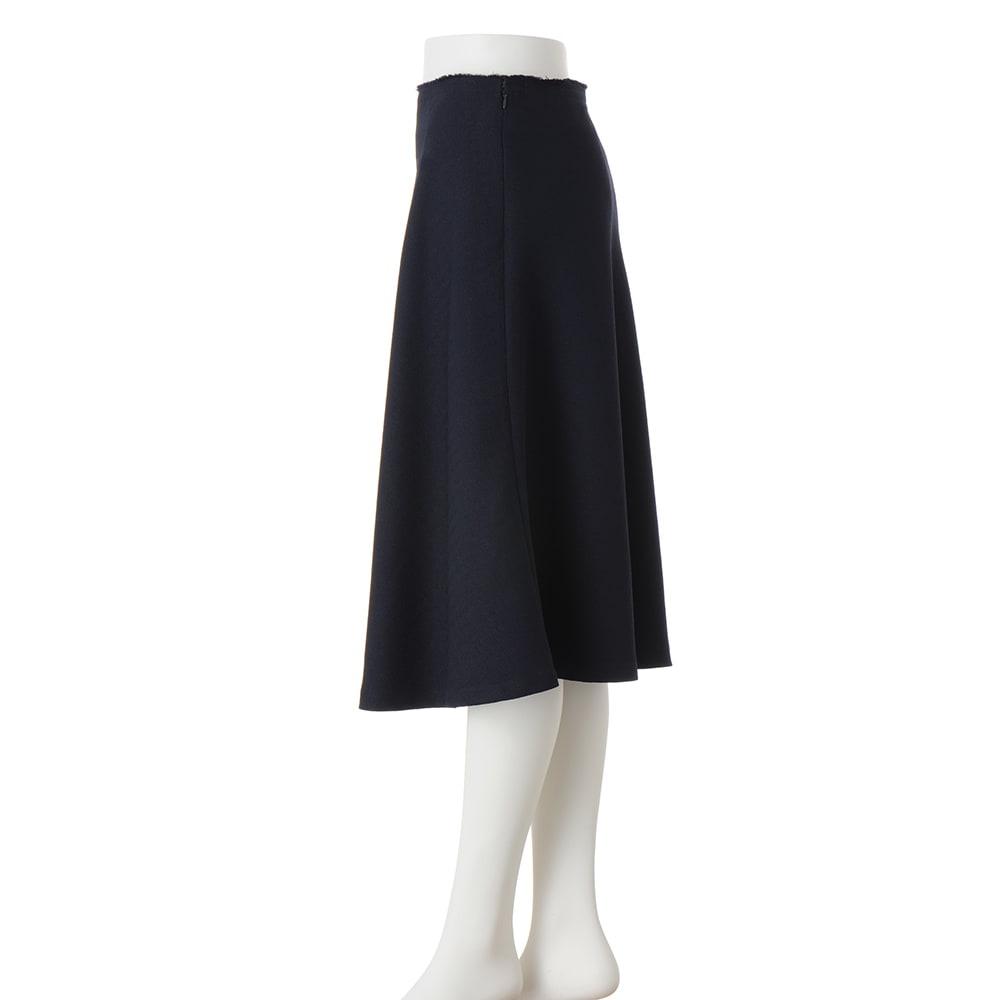 ツイード調 フレアスカート