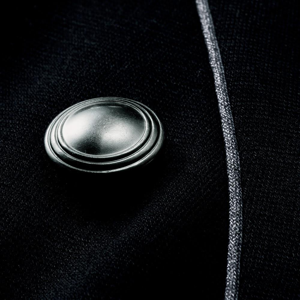 ハイゲージポンチ パイピング使い ワンピース ボタン部分