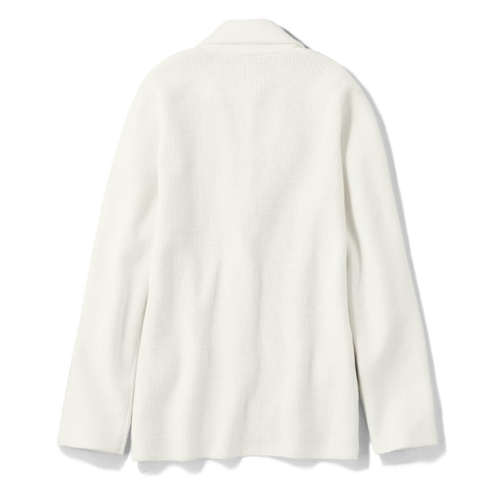 鹿の子編み ニットジャケット Back Style