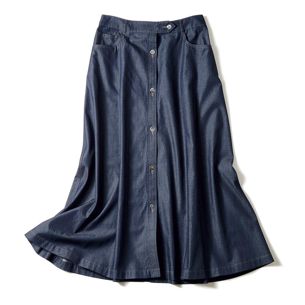 コーマ糸 ライトオンスデニム スカート