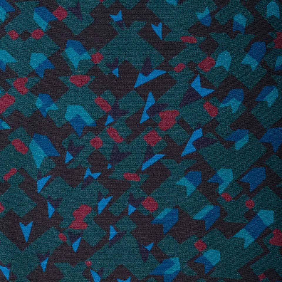 幾何学柄プリント ドルマンスリーブチュニックシャツ(大きいサイズ)