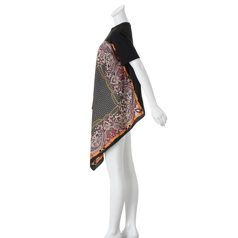 スカーフ切り替え デザインプルオーバー