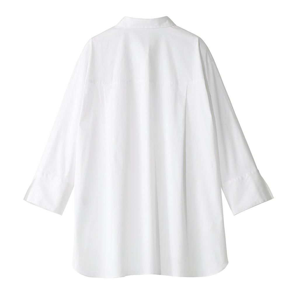 コットンブロード オーバーサイズ シャツ BACK