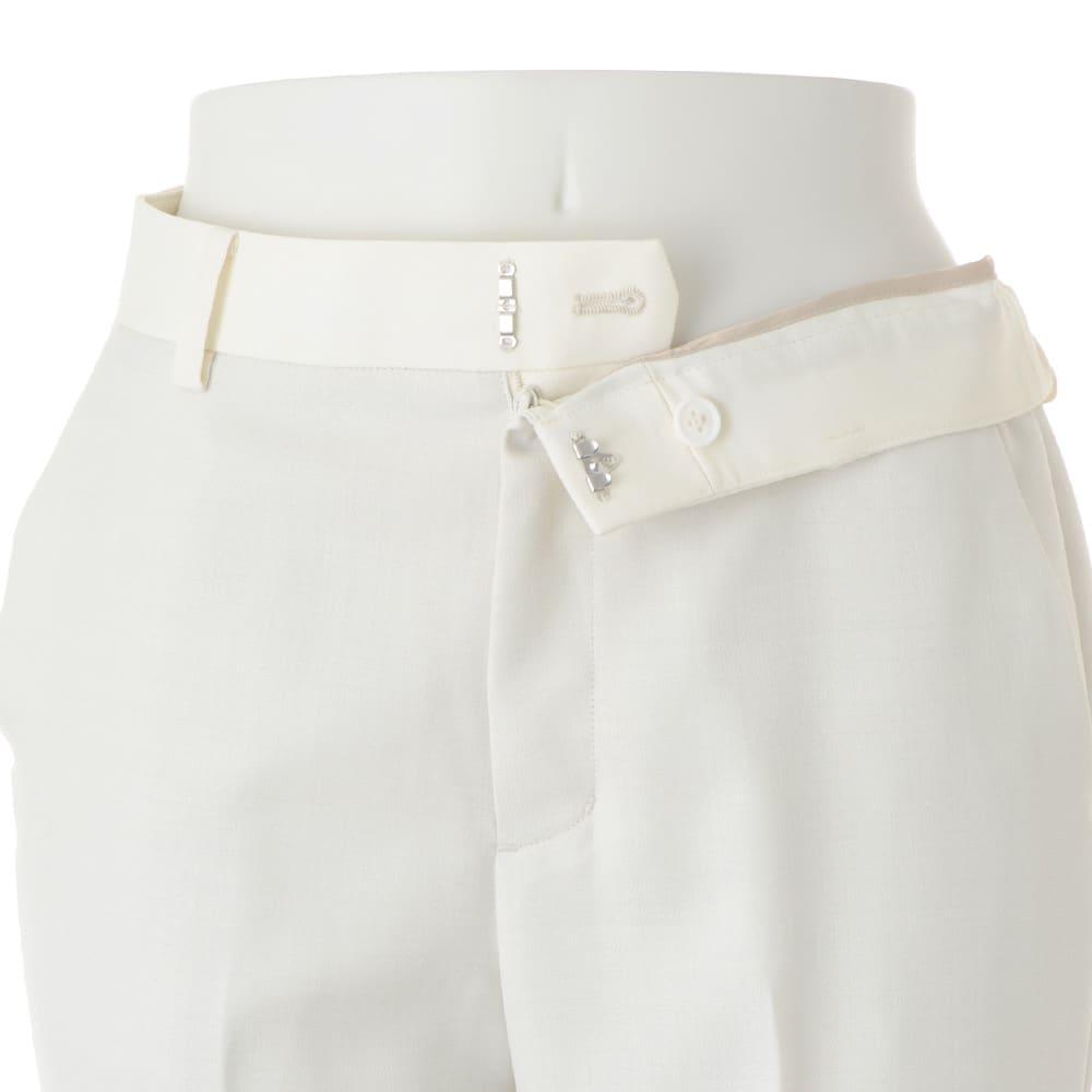 (股下丈63cm) 裾ダブル クロップドパンツ