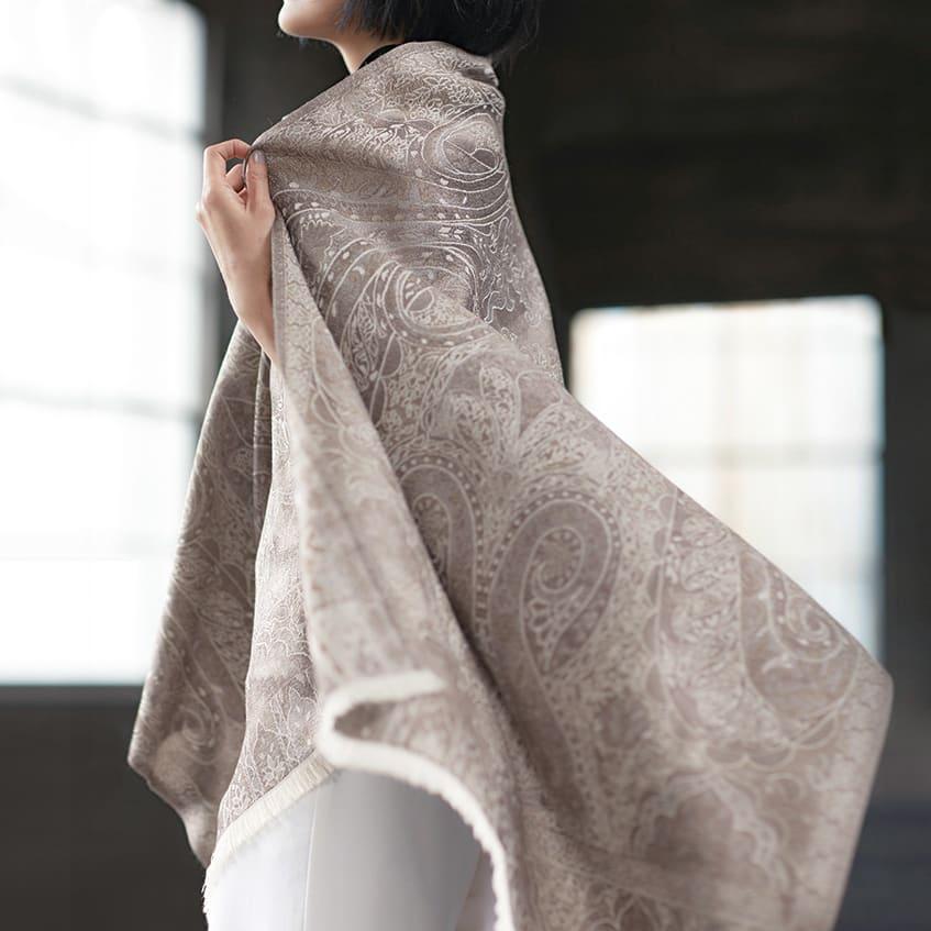 (股下丈63cm) 裾ダブル クロップドパンツ (ア)ホワイト コーディネート例
