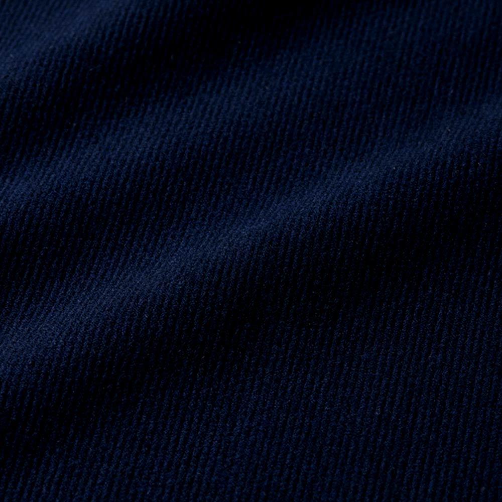 細コーデュロイ風 ジャージー スカート(サイズ64) ネイビー 生地アップ