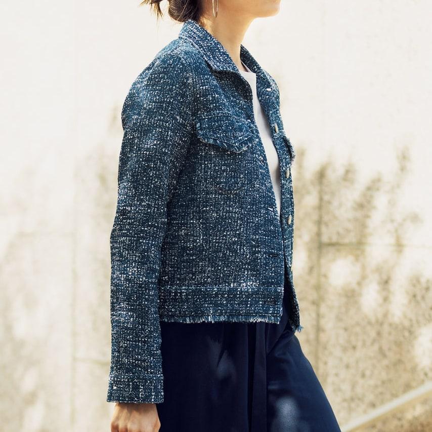 イタリア製生地 サマーツイードジャケット コーディネート例