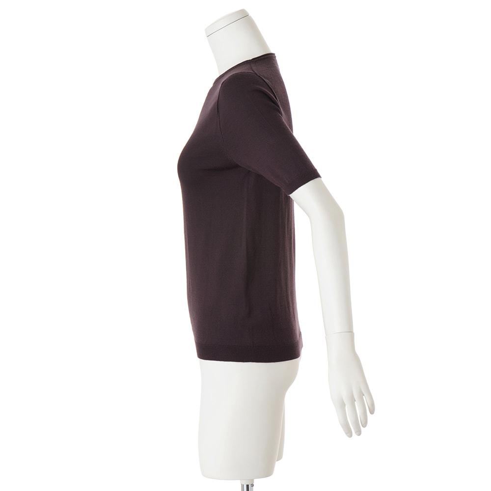 ホールガーメント(R) ウールカシミヤ 半袖プルオーバー(サイズS)