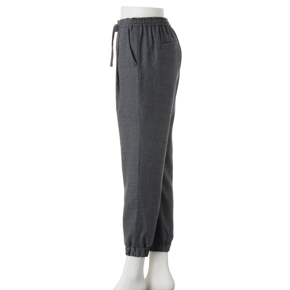 (股下丈70cm) ウールビエラ  ドローストリング ジョガーパンツ 【股下丈65cm】