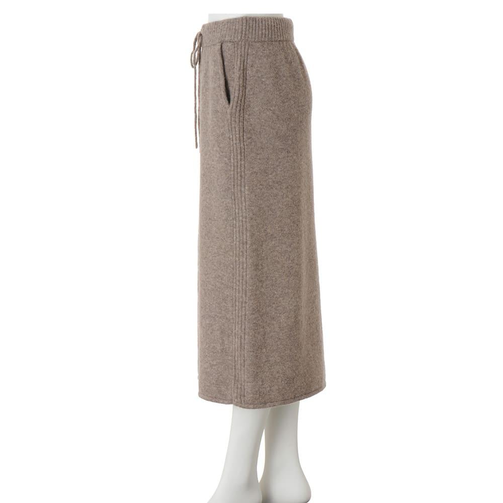 イタリア糸 ヤク混ニット スカート