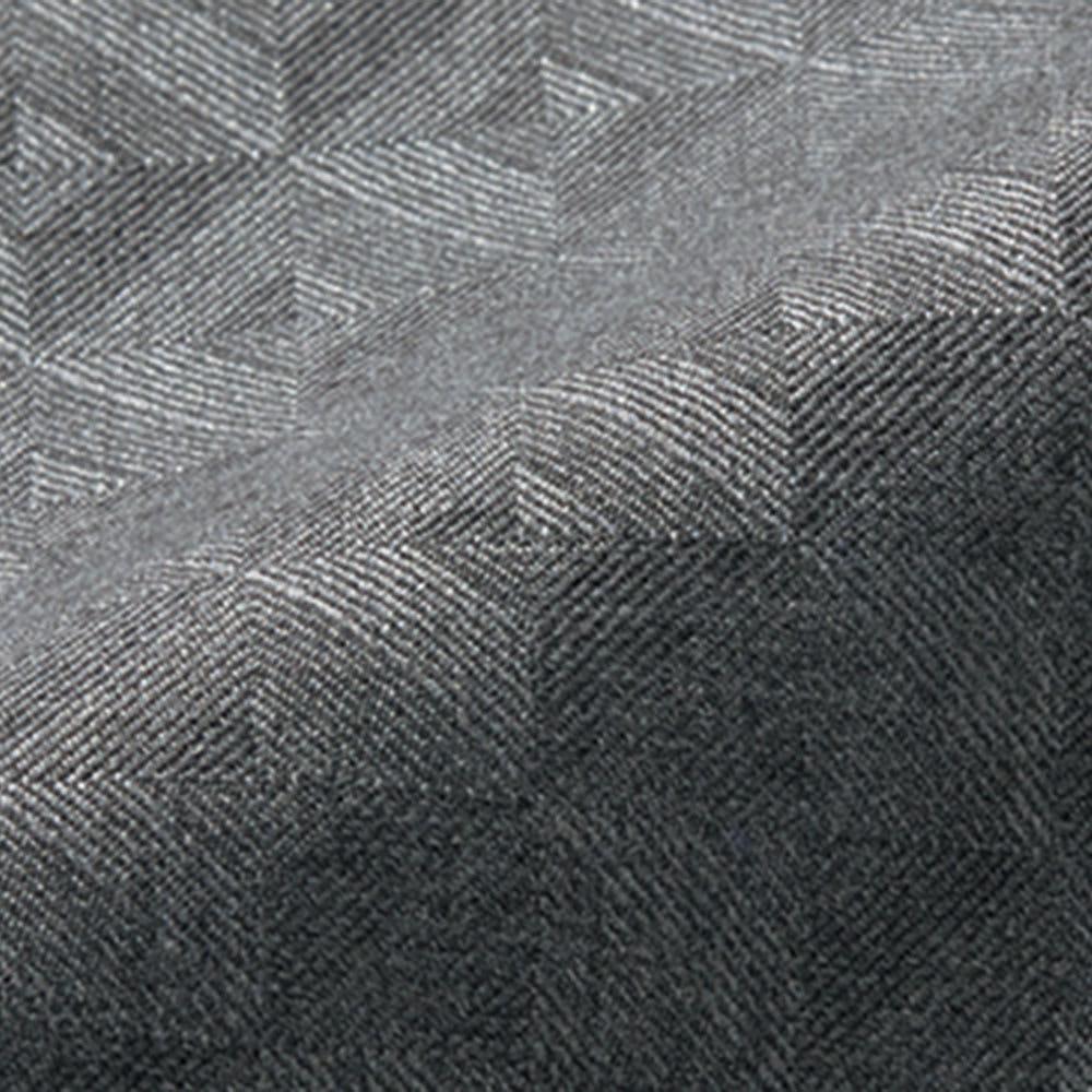 (股下丈68cm)チェルッティ社 九分丈 テーパードパンツ (イ)グレー 生地アップ