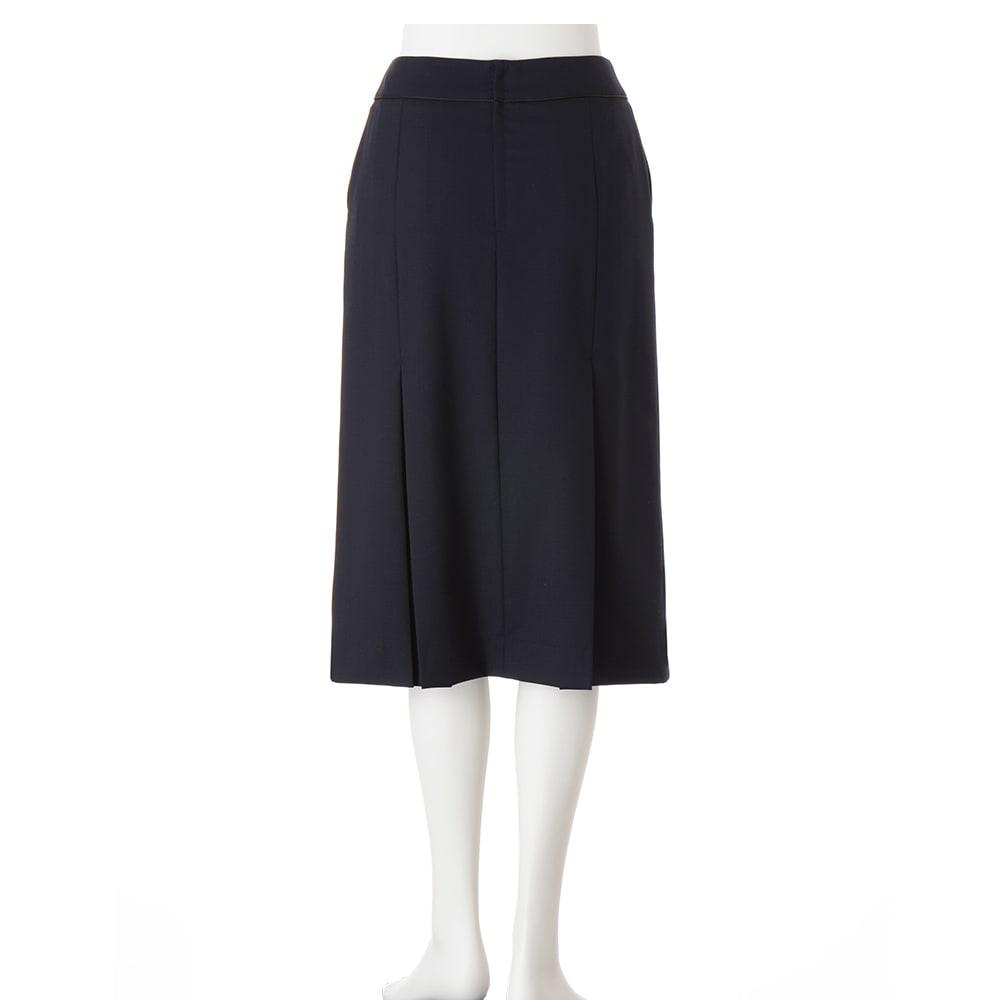 ウール混 ドビー タックデザイン スカート