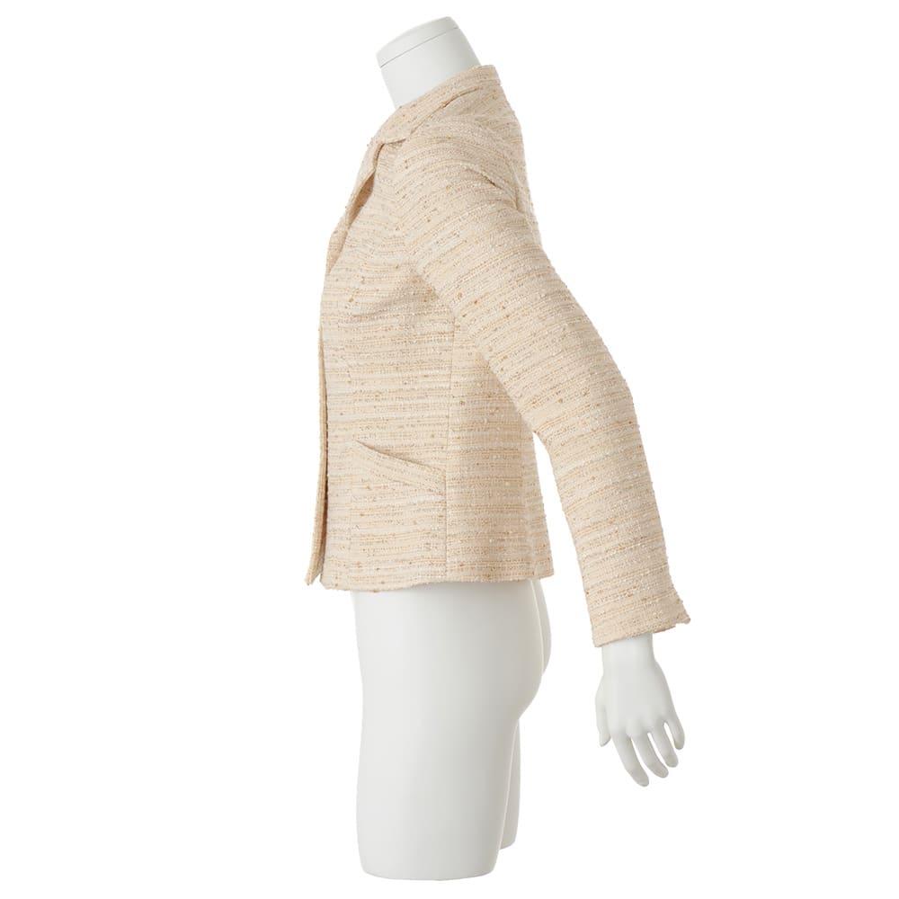 イタリア素材 ラメツイード ジャケット