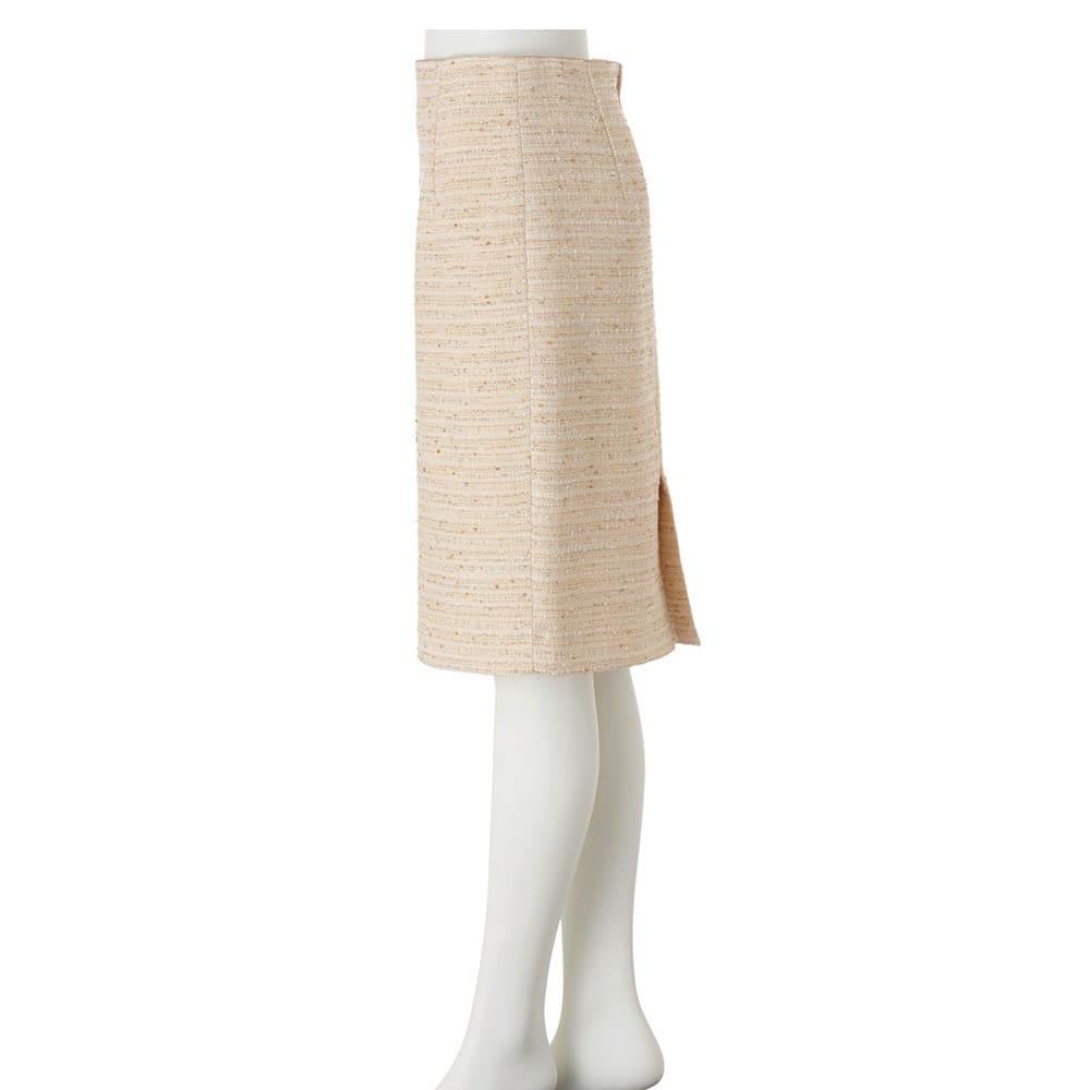 イタリア素材 ラメツイード タイトスカート