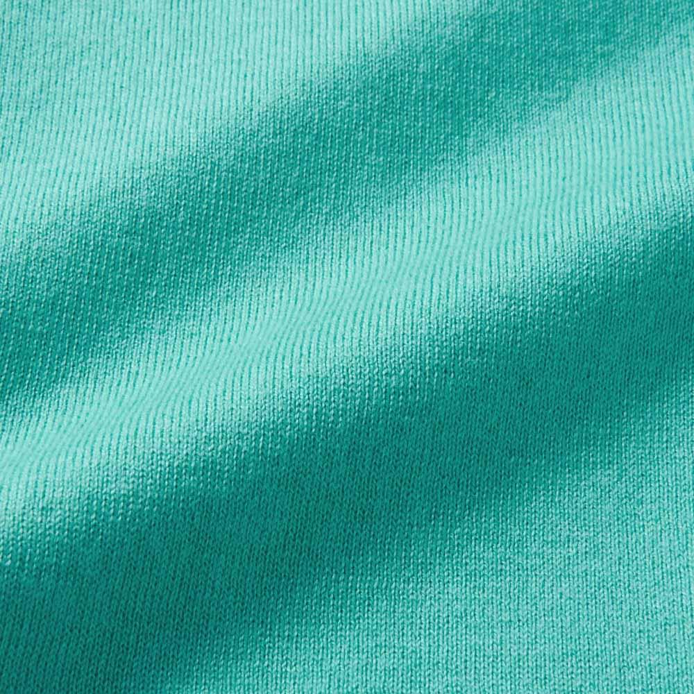 シルク混フリル使い 異素材ニット プルオーバー