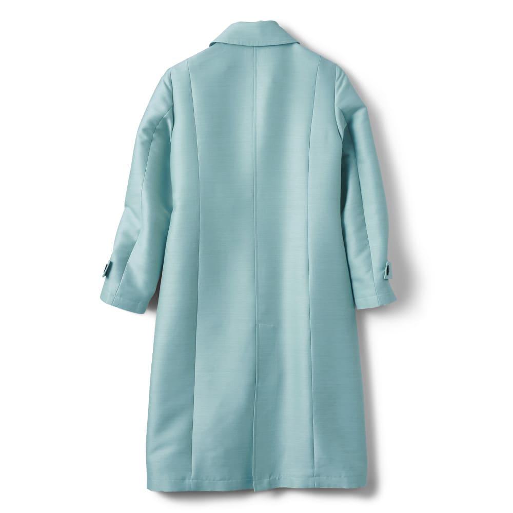 ウールシルク混 ステンカラーコート Back Style